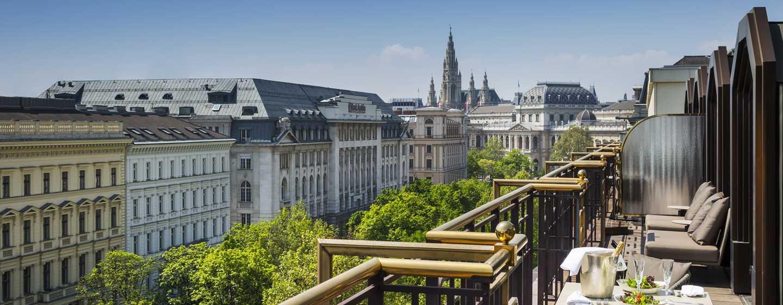 Hilton Vienna Plaza, Österreich– Terrasse der Präsidenten-Suite