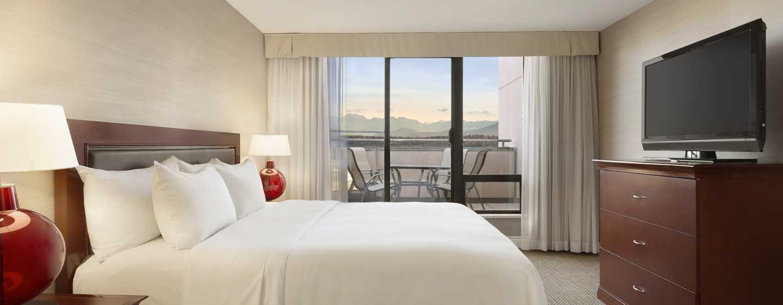 Hôtel Hilton Vancouver Airport, Colombie-Britannique, Canada - Chambre avec lits doubles