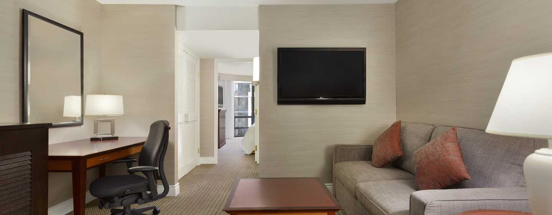Hôtel Hilton Vancouver Airport, Colombie-Britannique, Canada - Suite de deux chambres