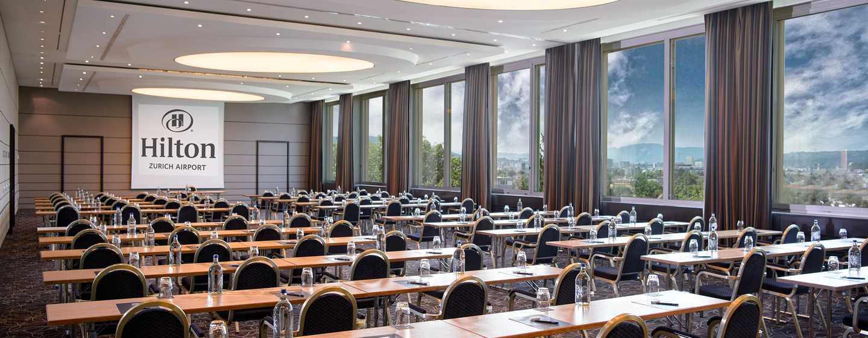 Hilton Zurich Airport Hotel, Schweiz– Meetingraum Panorama