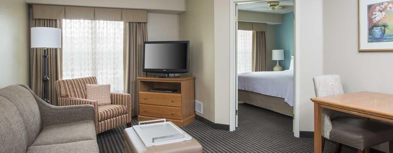 Homewood Suites de Hilton em Westchase, Houston, EUA - Suíte com um quarto