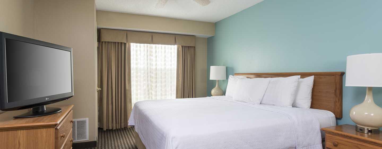 Homewood Suites de Hilton em Westchase, Houston, EUA - Quarto King