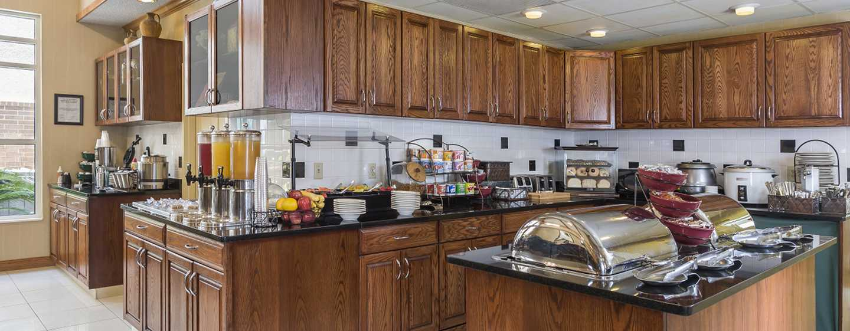 Homewood Suites de Hilton em Westchase, Houston, EUA - Área do café da manhã