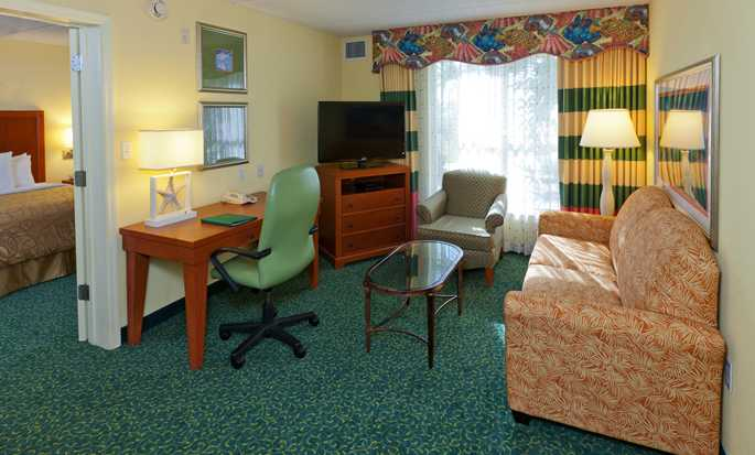 Homewood Suites by Hilton Orlando-Nearest to Univ Studios Hotel, USA - Suite living room