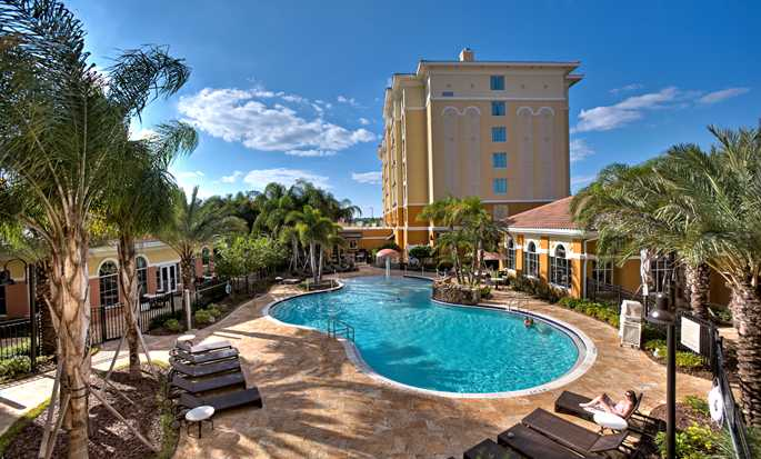 Homewood Suites by Hilton® Lake Buena Vista - Orlando - Exterior with pool in afternoon sun
