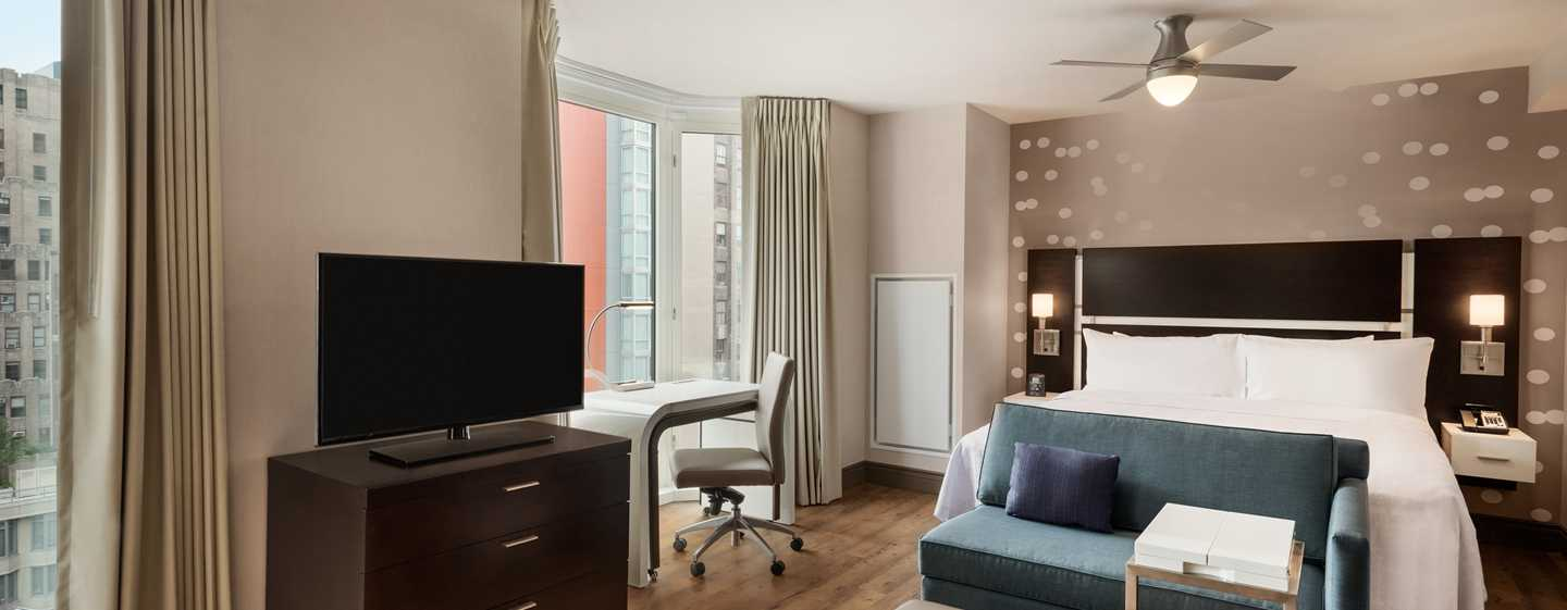 Hotel Homewood Suites by Hilton New York/Midtown Manhattan Times Square-South, NY, Stati Uniti - Studio Suite con letto king size