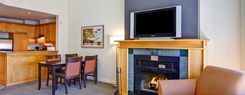 Hôtel Homewood Suites by Hilton Mont-Tremblant Resort - Suite avec cheminée