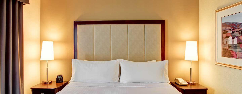 Hôtel Homewood Suites by Hilton Toronto-Mississauga, Canada - Chambre avec très grand lit