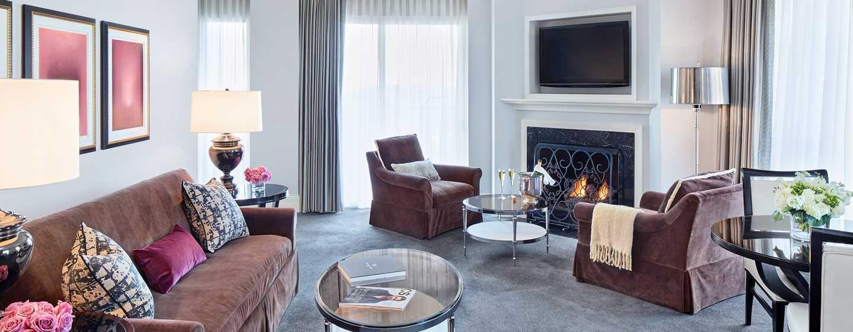 Hôtel Waldorf Astoria Chicago - Salon d'une chambre d'angle Gold Coast