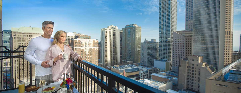 Hôtel Waldorf Astoria Chicago - Terrasse d'une chambre
