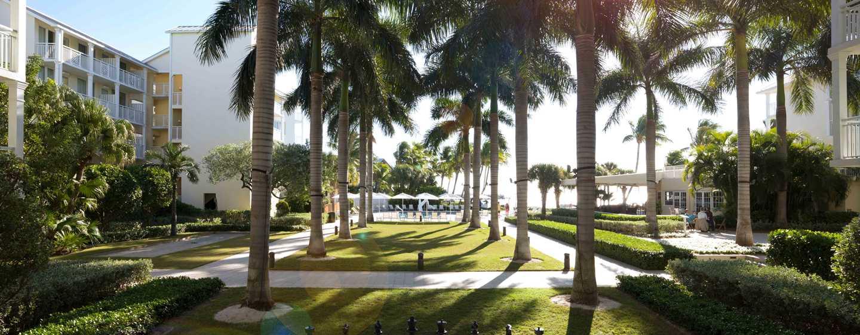 Hôtel The Reach, a Waldorf Astoria Resort, Floride, É.-U.- Court intérieure