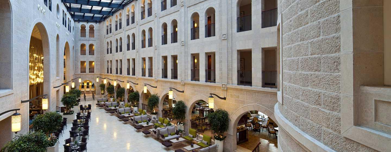 The Waldorf Astoria Jerusalem Hotel, Israel – Lobby und Atrium