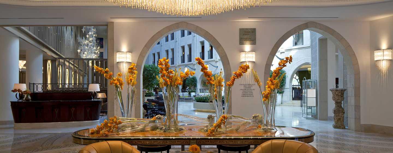 The Waldorf Astoria Jerusalem Hotel, Israel – großer Eingang des Hotels