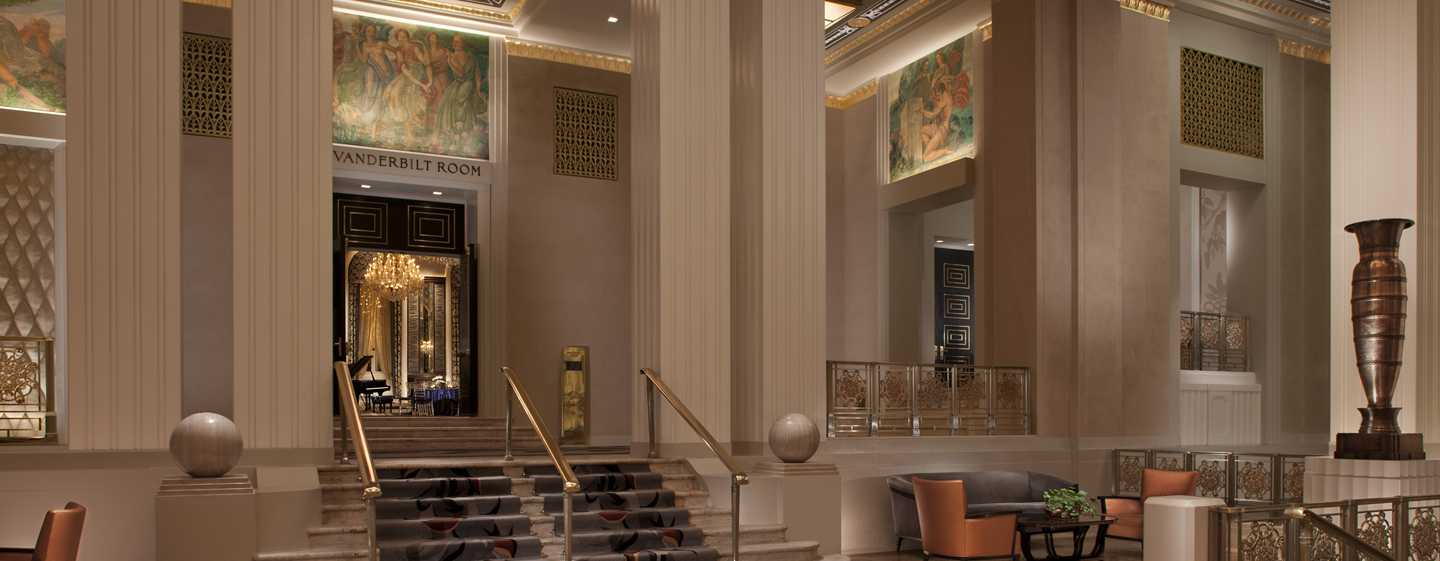 Waldorf Astoria New York Hotel, New York, USA – Ansicht der Lobby in der Park Avenue