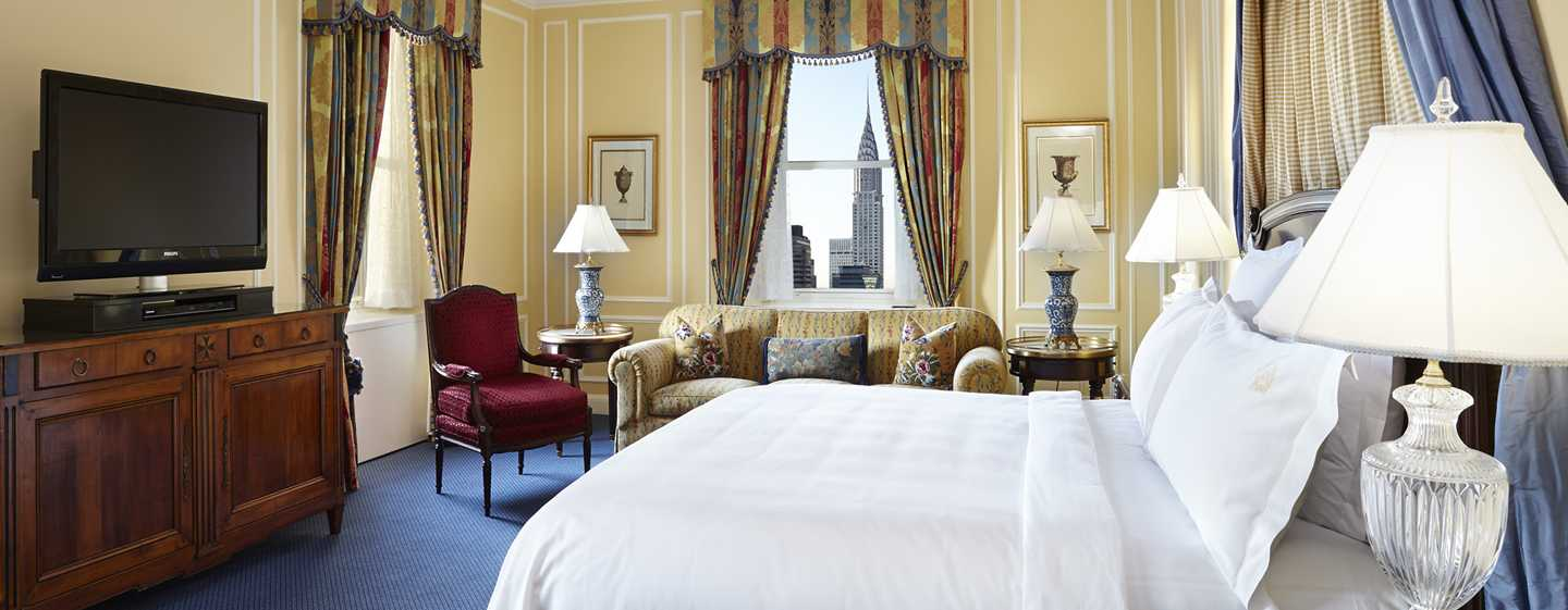 The Towers of the Waldorf Astoria, New York, USA – Schlafzimmer der Historic-Suite