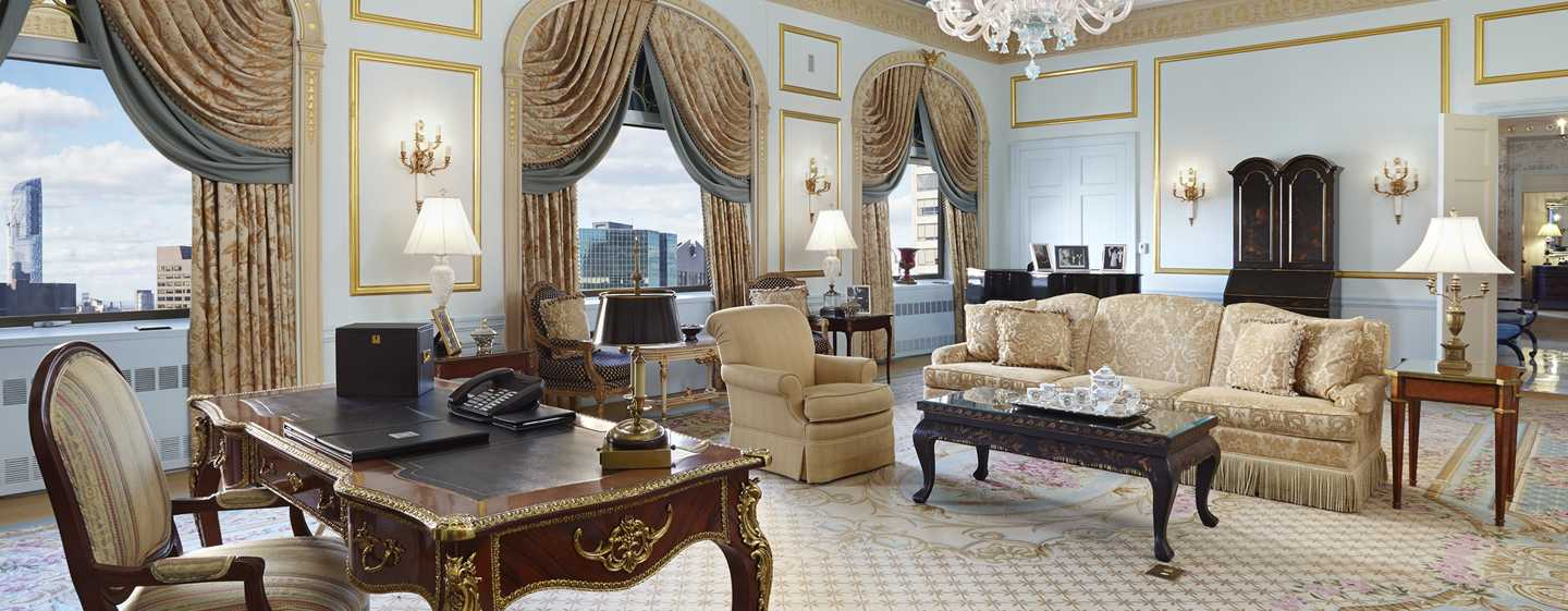 The Towers of the Waldorf Astoria New York, EUA – Sala de estar da cobertura Towers
