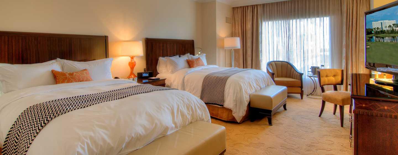 Hôtel Waldorf Astoria Orlando, Floride, États-Unis - Chambre de luxe avec deux grands lits