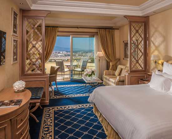 Rome Cavalieri, Waldorf Astoria Hotels & Resorts, Itália – Quarto King Imperial com vista para Roma
