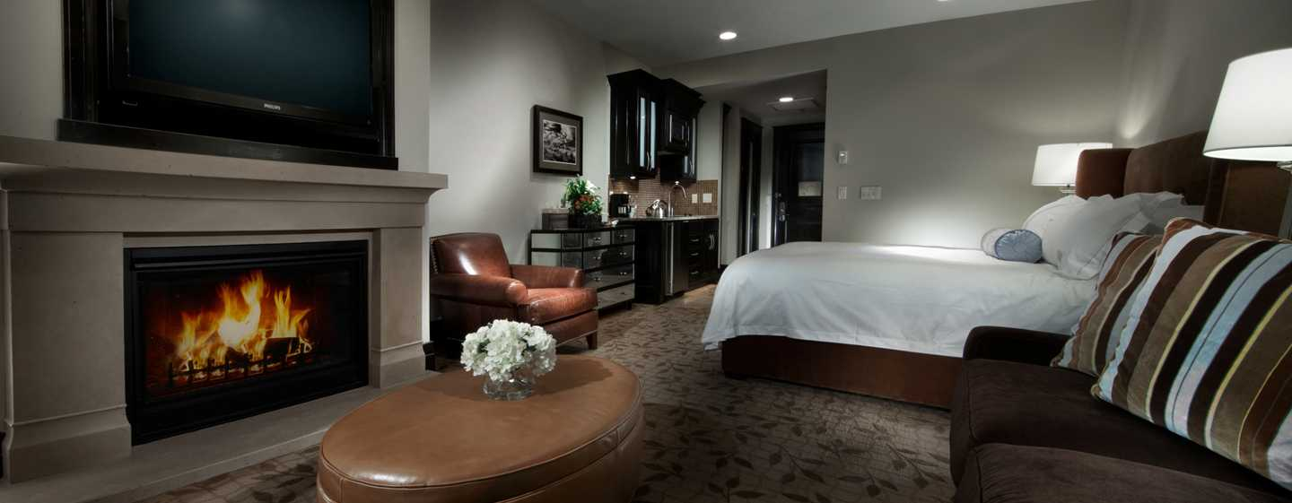 Waldorf Astoria Park City, Utah, EUA – Quarto Studio com cama king-size