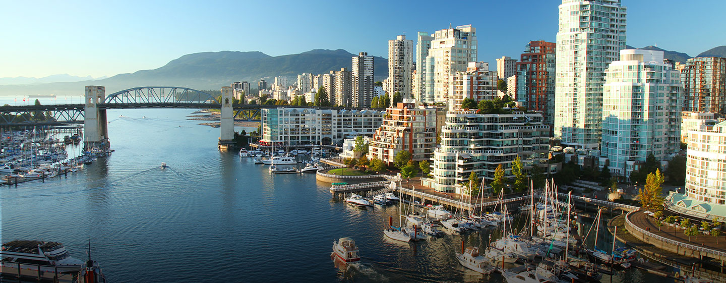 View of the Vancouver Harbor, Canada