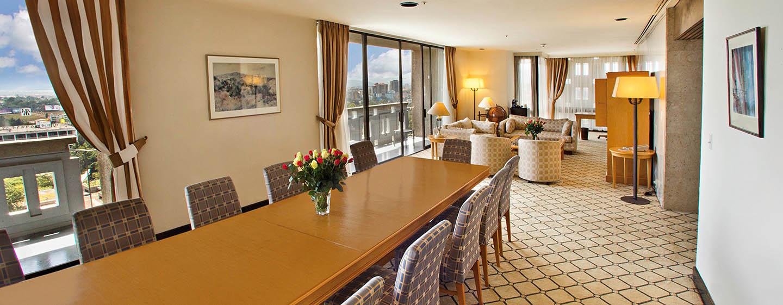 Hilton Addis Ababa, Äthiopien– Präsidenten Suite mit drei Schlafzimmern und King-Size-Bett