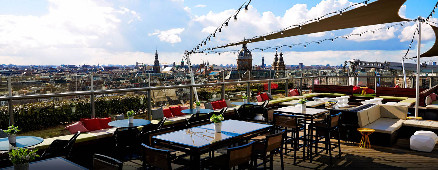DoubleTree by Hilton Hotel Amsterdam Centraal Station, Pays-Bas - Terrasse du Skylounge