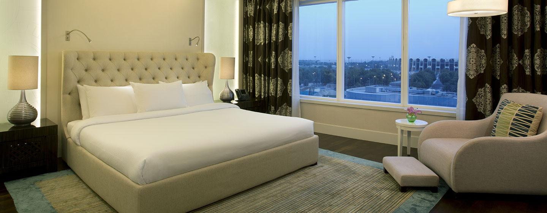 Hotel Hilton Capital Grand Abu Dhabi, EAU - Camera da letto della Suite Reale