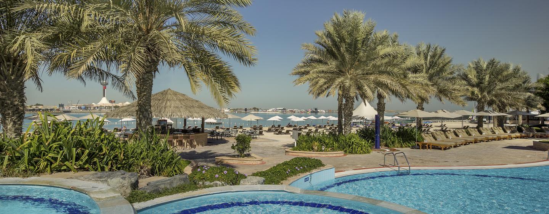 Hôtel Hilton Abu Dhabi, EAU - Bain à remous extérieur