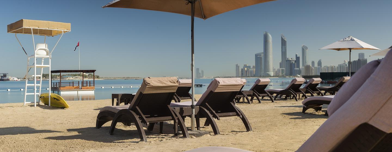 Hôtel Hilton Abu Dhabi, EAU - Club de plage Hiltonia, centre de remise en forme et spa
