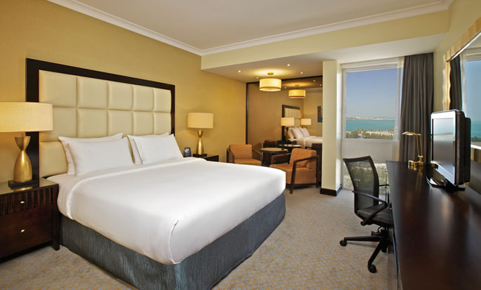 Hotel Hilton Abu Dhabi, EAU - Camera con letto king size
