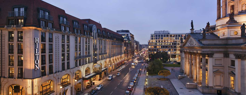Das Hilton Berlin begrüßt Sie am Gandarmenmarkt