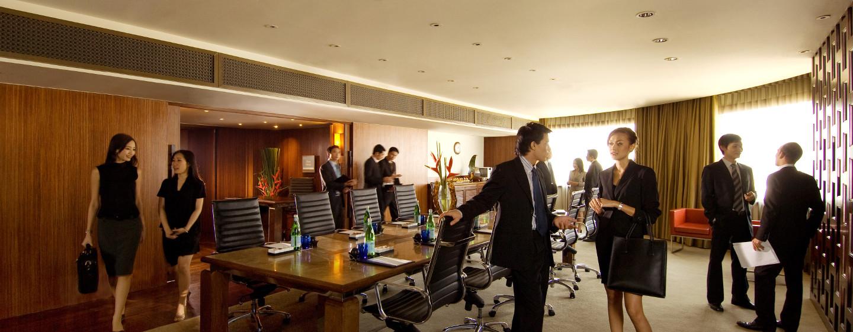 In der 30. Etage befinden sich 10 flexible und helle Meetingräume