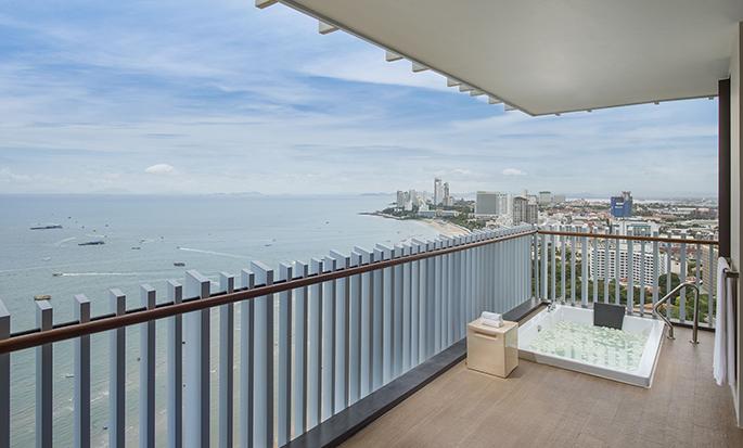 Hilton Pattaya– Balkon