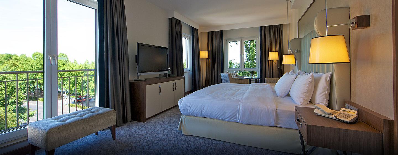Genießen Sie das Platzangebot welches Ihnen die Suite mit separatem Wohnzimmer bietet