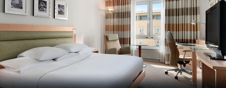 Die Hilton Plus Zimmer verfügen über King-Size-Betten
