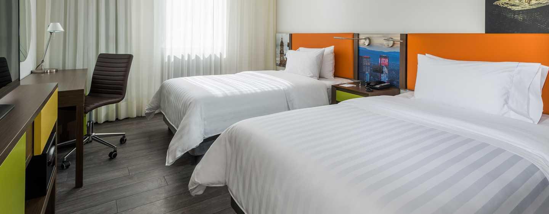 Hampton by Hilton Bogotá - Usaquén, Colombia - Habitación con camas dobles