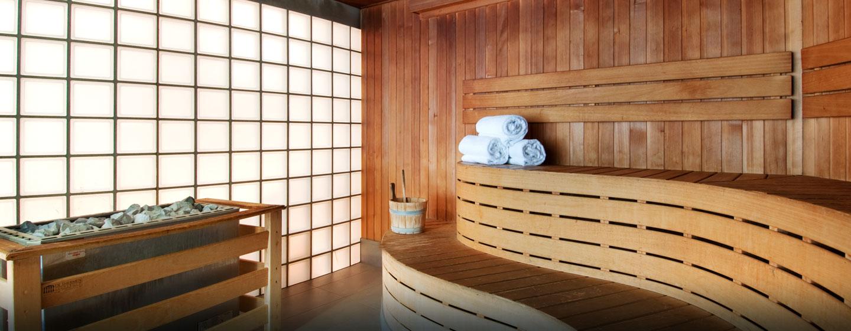 Für die Entspannung am Abend sorgt ein Besuch in der Sauna oder Dampfsauna des Hilton Brussels City Hotels
