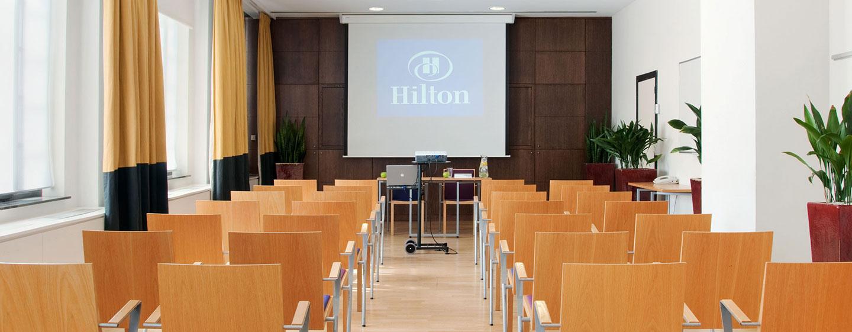 Meetings mit bis zu 60 Personen können in den Räumlichkeiten des Hilton Brussels City organisiert werden