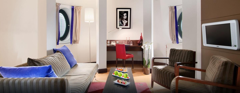 Hôtel Hilton Brussels City, Belgique - Suite junior avec lits jumeaux