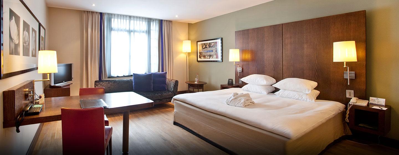 Hôtel Hilton Brussels City, Belgique - Chambre de luxe avec très grand lit