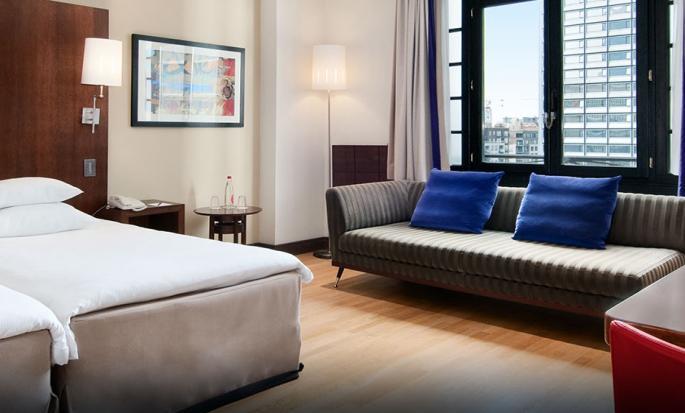 Hôtel Hilton Brussels City, Belgique - Chambre de luxe avec lit jumeaux