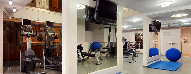 Das Fitness Center des Hotels ist 24-Stunden am Tag für Sie geöffnet