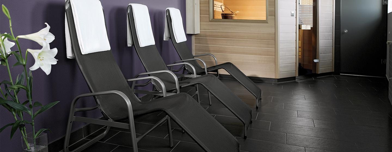 Relaxen Sie in der großen Sauna des Hilton Budapest City