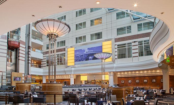 Hilton Paris Charles de Gaulle Airport hotel, Frankrijk - Restaurant Skylight