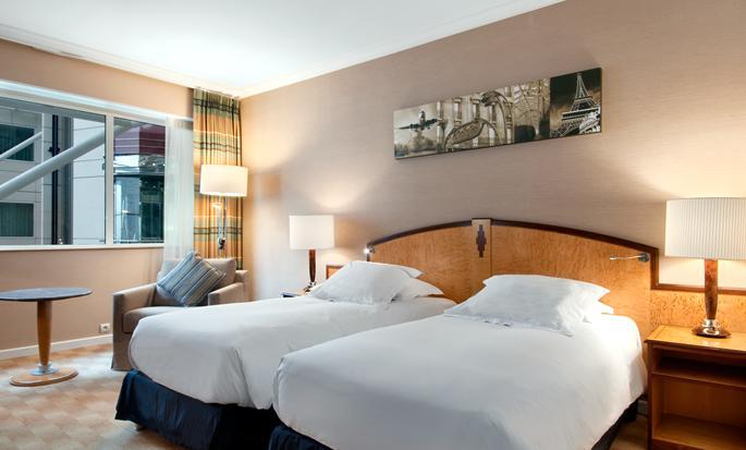 Hôtel Hilton Paris Charles de Gaulle Airport, France - Chambre avec lits jumeaux