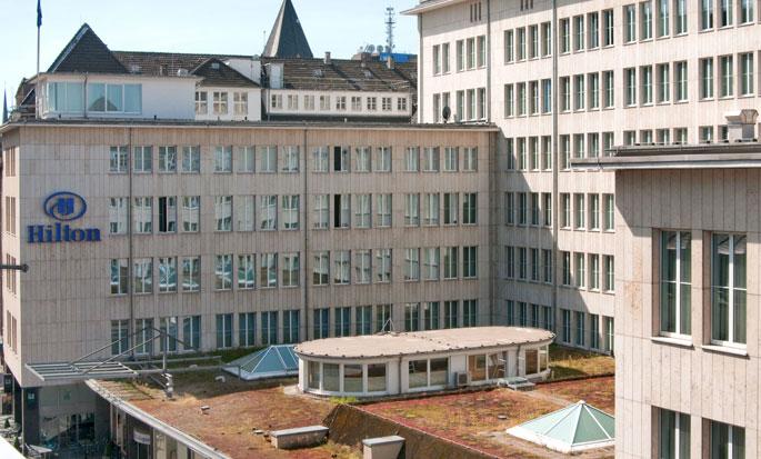 Hilton Cologne, Duitsland - Buitenkant hotel