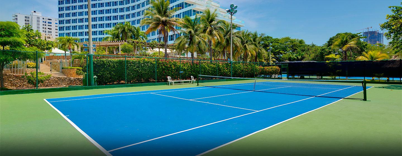 Hotel Hilton Cartagena, Colombia - Cancha de tenis