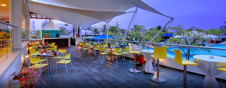 Hotel Hilton Cartagena, Colombia - Terraza de Pizza Al Forno