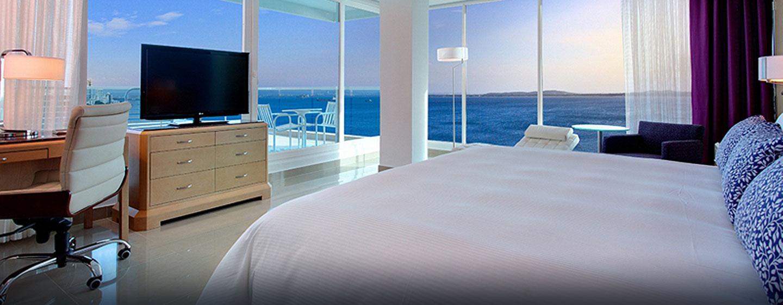 Einen atemberaubenden Blick können Sie aus den Eckzimmern des Hotels bewundern