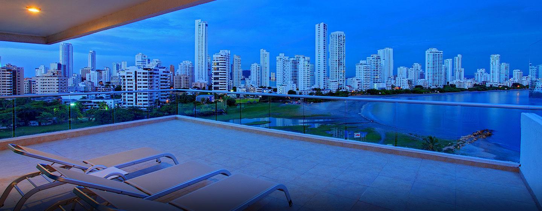 Hotel Hilton Cartagena, Colombia - Balcón de la suite
